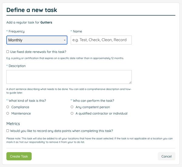 Custom task